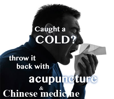 treat cold and flu with acupuncture and Chinese medicine