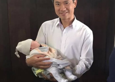 Dr Zeng with clinic baby