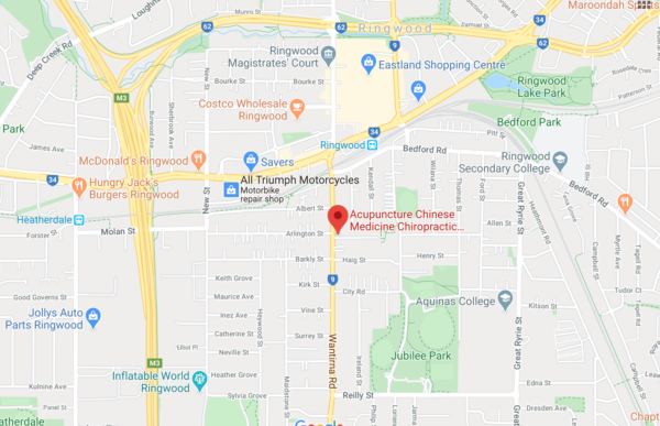 Map Ringwood Acupuncture Chinese Medicine